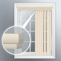 Double round corner vertical valance for Bali vertical blinds