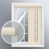 Round corner valance for Bali vertical blinds