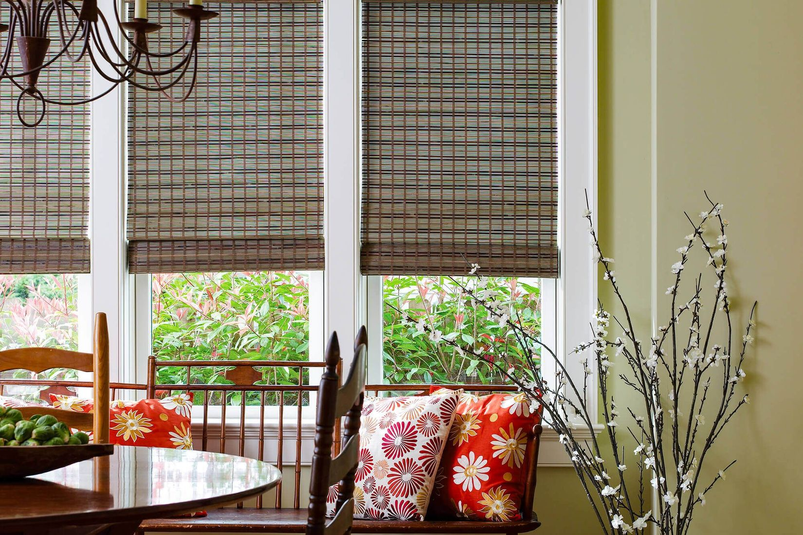 Vista Natural Classicwoven Wood Blinds Burmese Rainforest With Privacy Liner