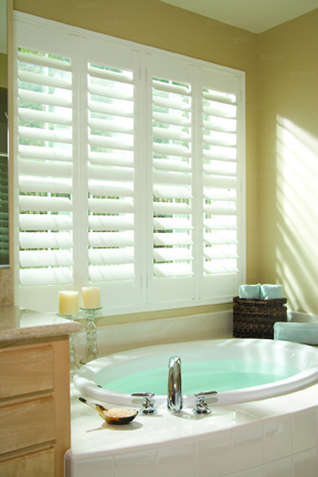 Norman Shutters - Woodlore is the most popular faux wood shutter in the industry.
