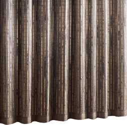 60 fullness Bali natural woven wood drapery