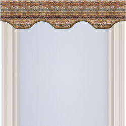 Cathedral valance natural woven wood