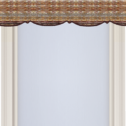 Horizontal natural shade valance