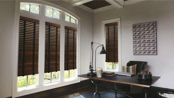 Decorative tape look for Levolor wood blinds