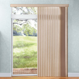 Right stack option for vertical blinds by levolor