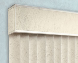 Design line valance for Levolor vertical blinds