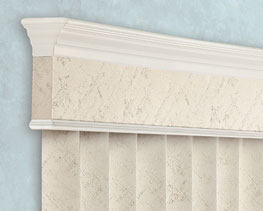 Traditional valance for Levolor verticals
