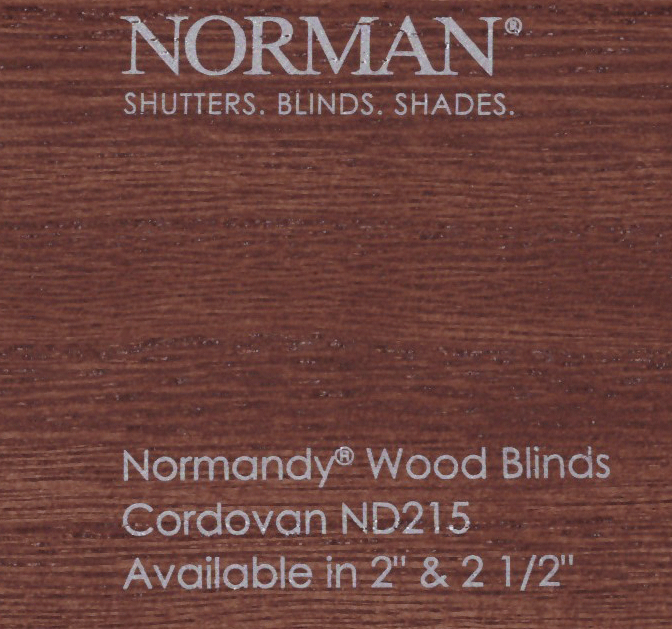 Norman Normandy 2 5 Inch Real Premium Wood Blinds
