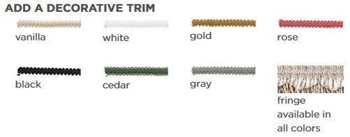 Decorative trim for roman Shades
