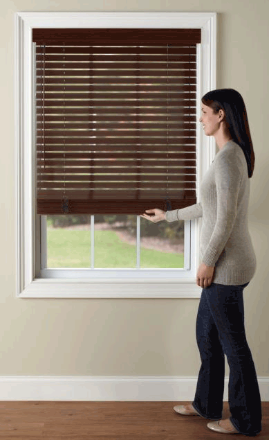 how to close levolor blinds