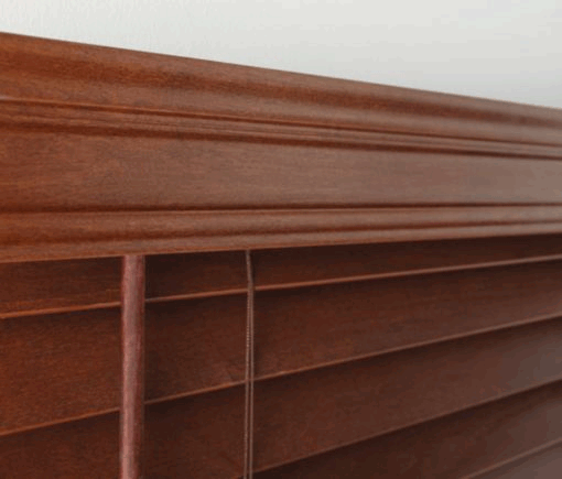 tradional valance for faux wood blinds